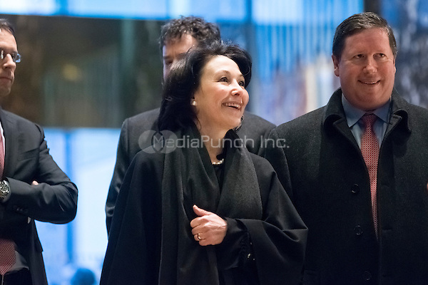 Safra Catz, CEO of Oracle, is seen upon her arrival at Trump Tower in New York, NY, USA on December 14, 2016. Credit: Albin Lohr-Jones / Pool via CNP /MediaPunch