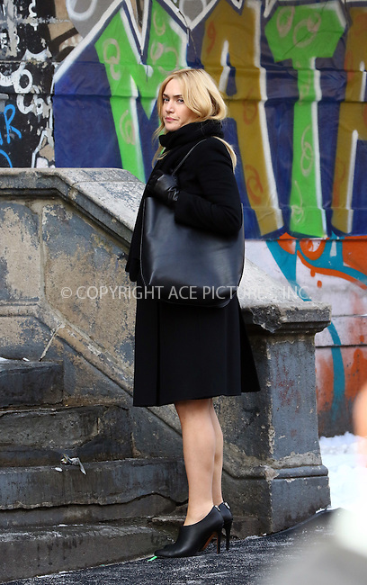 WWW.ACEPIXS.COM<br /> <br /> March 16 2016, New York City<br /> <br /> Actress Kate Winslet on the set of the new movie 'Collateral Beauty' on March 16 2016 in New York City<br /> <br /> By Line: Zelig Shaul/ACE Pictures<br /> <br /> <br /> ACE Pictures, Inc.<br /> tel: 646 769 0430<br /> Email: info@acepixs.com<br /> www.acepixs.com
