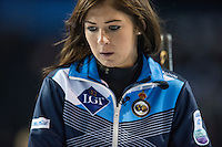 Glasgow. SCOTLAND.  Sotland, &quot;Skip&quot;, Eve MUIRHEAD,  during  the &quot;Round Robin&quot; Game.  Scotland vs Russia,  Le Gruy&egrave;re European Curling Championships. 2016 Venue, Braehead  Scotland<br /> Thursday  24/11/2016<br /> <br /> [Mandatory Credit; Peter Spurrier/Intersport-images]