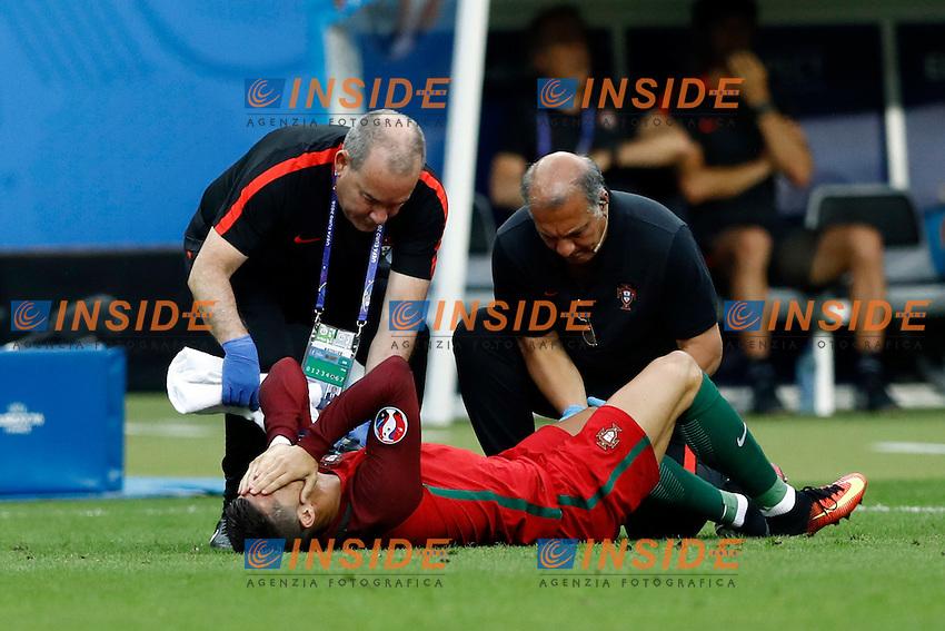 Infortunio Cristiano Ronaldo (Portugal) accident<br /> Marseilles 10-07-2016 Stade Velodrome Football Euro2016 Germany - France / Germania - Francia Semi-finals / Semifinali <br /> Foto Matteo Ciambelli / Insidefoto