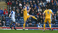 Preston North End's Jordan Hugill and Blackburn Rovers' Ryan Nyambe<br /> <br /> Photographer Stephen White/CameraSport<br /> <br /> The EFL Sky Bet Championship - Blackburn Rovers v Preston North End - Saturday 18th March 2017 - Ewood Park - Blackburn<br /> <br /> World Copyright &copy; 2017 CameraSport. All rights reserved. 43 Linden Ave. Countesthorpe. Leicester. England. LE8 5PG - Tel: +44 (0) 116 277 4147 - admin@camerasport.com - www.camerasport.com