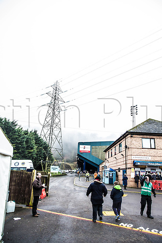 17.12.2016. Adams Park, High Wycombe, Buckinghamshire, England. Skybet Division 2 football, Wycombe Wanderers versus Leyton Orient. Fans start to arrive for the game