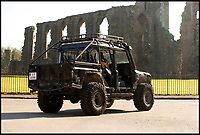 BNPS.co.uk (01202 558833)<br /> Pic:   Sotheby's/BNPS<br /> <br /> A bespoke Land Rover driven by Daniel Craig in the Bond film Spectre is tipped to sell for a spectacular £192,000.<br /> <br /> The huge 4x4 Land Rover Defender, that weighs 2.5 tonnes, featured in the 007 film as part of a high-speed chase through a snowy mountain range.<br /> <br /> Bond, in a helicopter attempts to pursue a group of gunmen who have kidnapped Madeleine Swann - his love interest in the film.
