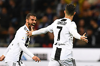 Cristiano Ronaldo of Juventus celebrates after scoring the goal of 1-1 <br /> Milano 27-04-2019 Stadio Giuseppe Meazza <br /> Football Serie A 2018/2019 FC Internazionale - Juventus FC <br /> photo Image Sport / Insidefoto