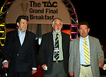 The Grand Final Breakfast, Melbourne Exhibition Centre 29-9-07, The VIP Guests arrive down the red carpet,Talk back radio kings (L) Derran Hinch, (C) Neil Mitchell, (R) Steve Price..
