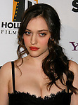 BEVERLY HILLS, CA. - October 27: Actress Kat Dennings arrives at the 12th Annual Hollywood Film Festival Awards Gala at the Beverly Hilton Hotel on October 27, 2008 in Beverly Hills, California.