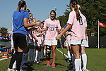 23 October 2011: Duke senior Ashley Rape (23) is honored by her teammates as part of Duke's Senior Day. The Duke University Blue Devils defeated the University of Maryland Terrapins 3-1 at Koskinen Stadium in Durham, North Carolina in an NCAA Division I Women's Soccer game.