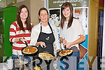 PANCAKES; Flipping for life at the Manor West Retail Park, Tralee on Sunday L-r: Orla McCarthy(Tralee), Katie Cooke (QC Caherciveen) and Amy Phelan (Tralee).....