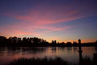 River Seine at sunset, Les Andelys, Eure, Haute-Normandie, France. Picture by Manuel Cohen