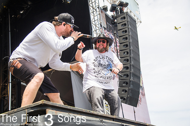 Colt Ford and Chase Rice performs onstage during The Tortuga Music Festival in Fort Lauderdale, Florida.