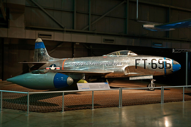 Lockheed F-80C Shooting Star at the National Museum of the United States Air Force, Dayton, Ohio, USA