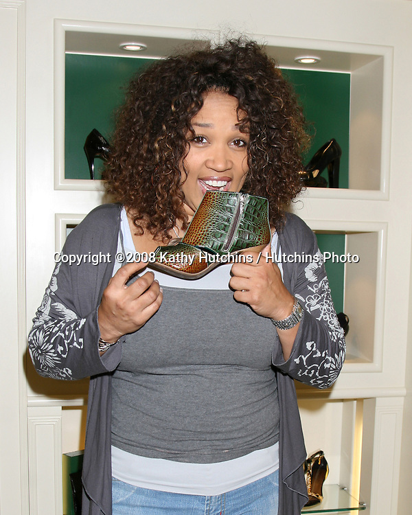 "Kym Whitley as she is shopping for shoes and purses as the Carmen Steffens store hosts the  ""Divas Simply Singing"" ladies at the Carmen Steffens Store at the Westfield Fahion Square Mall, in Sherman Oaks,  CA on.October 9, 2008.©2008 Kathy Hutchins / Hutchins Photo....                ."