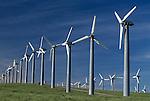 Wind power generators, California, USA.