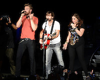 WEST PALM BEACH - MAY 12: (L-R) Charles Kelley, Dave Haywood and Hillary Scott,  of Lady Antebellum  perform at the Cruzan Amphitheatre on May 12, 2012 in West Palm Beach, Florida. © mpi04/MediaPunch Inc