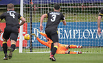20.05.2018 Partick Thistle v Livingston: Neil Alexander saves penalty kick from Connor Sammon