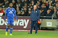 Cardiff City Manager Neil Warnock during West Ham United vs Cardiff City, Premier League Football at The London Stadium on 4th December 2018