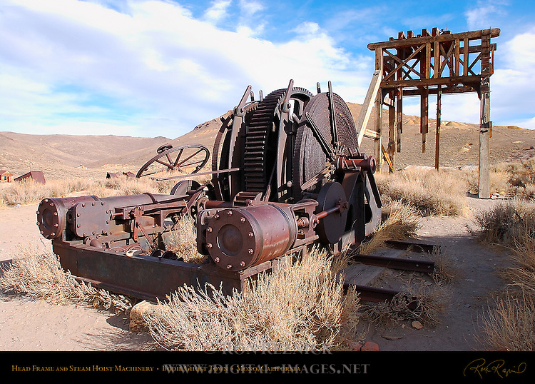 Head Frame and Steam Hoist Machinery, Bodie Ghost Town, Mono, California