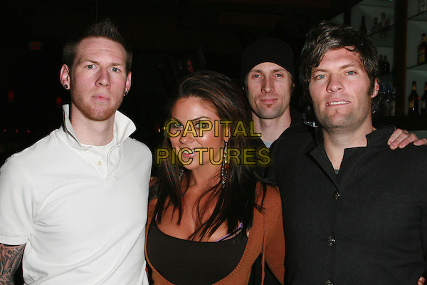 "NADIA BJORLIN & FINDING MERCURY .Redline Premiere Party, ""Myspace For Myfriends"" held at Aura Nightclub, Studio City, California, USA.  .April 18th, 2007.half length brown black white.CAP/ADM/CH.©Charles Harris/AdMedia/Capital Pictures"
