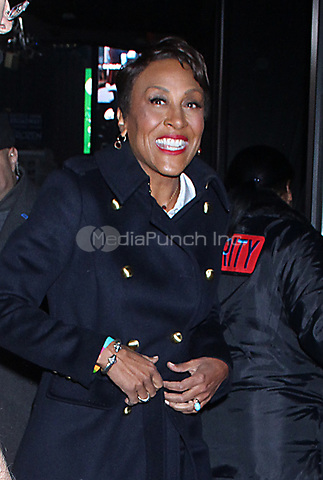 NEW YORK, NY - December 13: Robin Roberts host of Good Morning America seen in New York City on December 13, 2018. Credit: RW/MediaPunch