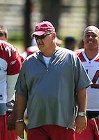 Jul 31, 2009; Flagstaff, AZ, USA; Arizona Cardinals coach Russ Grimm during training camp on the campus of Northern Arizona University. Mandatory Credit: Mark J. Rebilas-