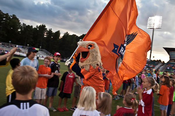 September 12, 2009. Cary, NC..The Carolina Railhawks took over the #2 spot in the league after a 2-1 victory over the Puerto Rico Islanders.. Swoops comes on the field.