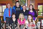Janet Casey enjoying her 30th Birthday at the Meadowlands Hotel on Saturday. Front L to R Mary Casey, Janet Casey, Melissa Casey, and baby Clodagh O'Brien..Back Row L to R James Casey, Christopher O'Sullivan, Aidan O'Brien and Cathy O'Brien.