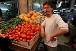 West Jerusalem, Israel Machane' Yehuda market.<br />