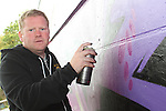 Glenn Black at the 2010 Graffiti Jam under the Bridge of Peace in Drogheda. ..Picture Jenny Matthews/Newsfile.ie