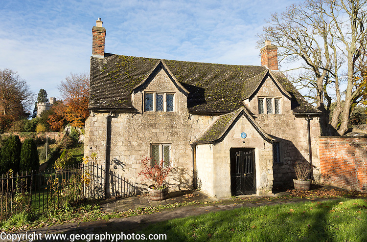 Early seventeenth century Sexton's Cottage, former almshouses, Devizes, Wiltshire, England, UK