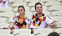 FUSSBALL WM 2014  VORRUNDE    GRUPPE G     Deutschland - Ghana                 21.06.2014 Zwei Deutsche Fans sind nach dem Abpfif nicht so richtig in Feierlaune