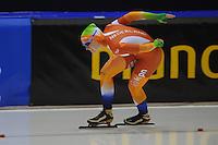 SCHAATSEN: HEERENVEEN: 04-10-2014, IJsstadion Thialf, Trainingswedstrijd, Femke Markus, ©foto Martin de Jong