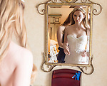 Beautiful bride Winter getting ready for her wedding