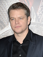 www.acepixs.com<br /> <br /> February 15 2017, LA<br /> <br /> Actor Matt Damon arriving at the premiere of 'The Great Wall' at the TCL Chinese Theatre on February 15, 2017 in Hollywood, California. <br /> <br /> By Line: Peter West/ACE Pictures<br /> <br /> <br /> ACE Pictures Inc<br /> Tel: 6467670430<br /> Email: info@acepixs.com<br /> www.acepixs.com