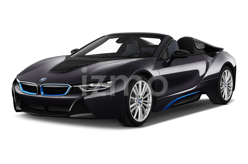 2019 BMW i8 Base 2 Door Convertible angular front stock photos of front three quarter view