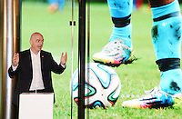 28-02-2016 Zurigo  Football FIFA; New FIFA President Gianni Infantino speaks during the inauguration of the new FIFA museum<br /> (Steffen Schmidt/freshfocus/Insidefoto)