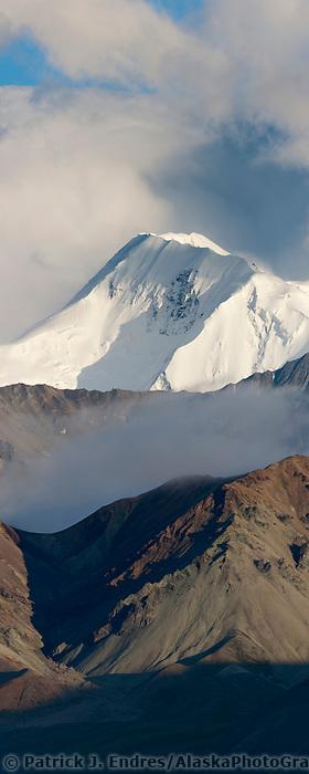 Mt mather of the Alaska Range mountains, Denali National Park, Interior, Alaska.