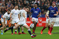 2nd February 2020, Stade de France, Paris; France, 6-Nations International rugby union, France versus England;  George Ford (Eng) kicks for field position