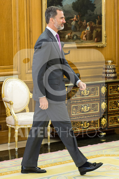 Spanish King Felipe attends the audience at Zarzuela Palace in Madrid, Spain. March 31, 2017. (ALTERPHOTOS / Rodrigo Jimenez)