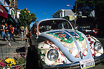 Hippie Volkswagon Beetle Bug,  Haight-Ashbury District, San Francisco, California