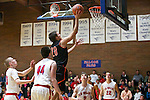 Gladstone forward Andrew Conway (20) shoots a layup against La Salle Prep in the first half at La Salle High School.<br /> Photo by Jaime Valdez