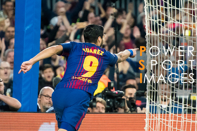 Luis Alberto Suarez Diaz of FC Barcelona celebrates his goal during the La Liga 2017-18 match between FC Barcelona and Real Madrid at Camp Nou on May 06 2018 in Barcelona, Spain. Photo by Vicens Gimenez / Power Sport Images