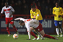 Marcus Haber of Stevenage holds off Blair Adams of Coventry. Stevenage v Coventry City - npower League 1 - Lamex Stadium, Stevenage - 26th December, 2012. © Kevin Coleman 2012......