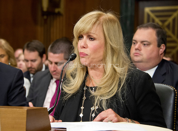 """Daphna Ziman, President, Cinémoi, gives testimony before the United States Senate Committee on the Judiciary Subcommittee on Antitrust, Competition Policy & Consumer Rights during the hearing """"Examining the Competitive Impact of the AT&T-Time Warner Transaction"""" on Capitol Hill in Washington, DC on Wednesday, December 7, 2016.<br /> Credit: Ron Sachs / CNP /MediaPunch"""