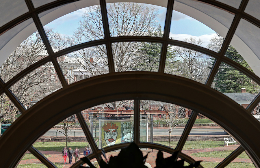Special Collections library window at the University of Virginia in Charlottesville, Va. Photo/Andrew Shurtleff Photography, LLC