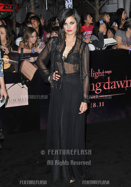 "Lina Esco at the world premiere of ""The Twilight Saga: Breaking Dawn - Part 1"" at the Nokia Theatre, L.A. Live in downtown Los Angeles..November 14, 2011  Los Angeles, CA.Picture: Paul Smith / Featureflash"