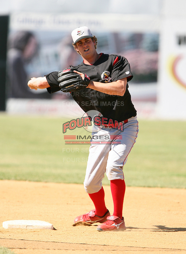 2007:  Adam Sorgi of the Williamsport Crosscutters, Class-A affiliate of the Philadelphia Phillies, during the New York-Penn League baseball season.  Photo By Mike Janes/Four Seam Images