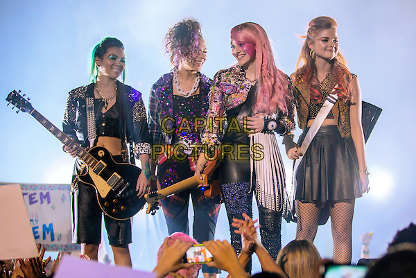 Jem and the Holograms (2015) <br /> Hayley Kiyoko, Aurora Perrineau, Aubrey Peeples, Stefanie Scott<br /> *Filmstill - Editorial Use Only*<br /> CAP/FB<br /> Image supplied by Capital Pictures