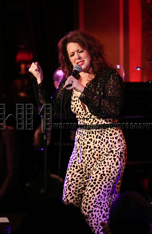 """Kirsten Wyatt on stage during a Song preview performance of the BeBe Winans Broadway Bound Musical """"Born For This"""" at Feinstein's 54 Below on November 5, 2018 in New York City."""