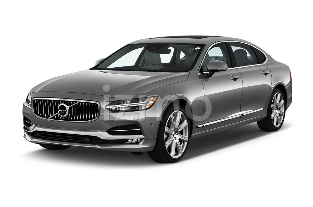 2019 Volvo S90 T6 Inscription 4 Door Sedan angular front stock photos of front three quarter view