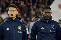 Gabriel Martinelli (left) & Ainsley Maitland-Niles of Arsenal during the UEFA Europa League match between Arsenal and Standard Liege at the Emirates Stadium, London, England on 3 October 2019. Photo by Andrew Aleks.